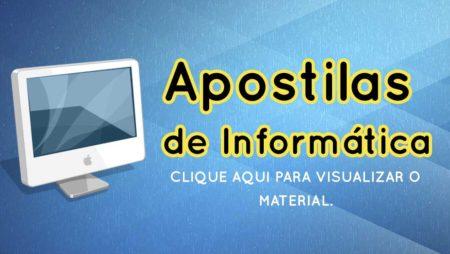 Apostilas de Informática 2018 – Prof° Wesley Nunes