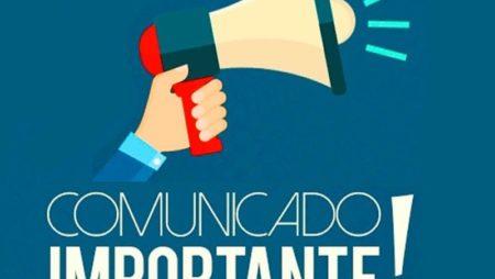 Comunicado Importante – Paralisação Gradual